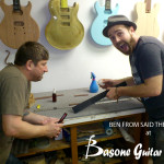 Ben from Said The Whale is having a guitar made at Basone