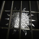 Custom Fingeboard inlay on 5-string 24-fret bass guitar