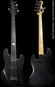Custom 5-string Bass Guitar, 24-fret, Swamp Ash body, Trans Coal finish