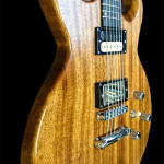 Double cut away solid Mahogany body custom electric guitar.