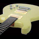 Basswood body electric guitar, Light Green finish. Clone model