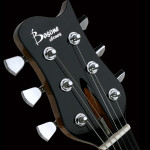 Custom electric guitar, headstock detail. Clone model