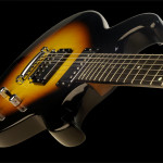 Flat top custom guitar, Basswood body, Sunburst finish. Clone model.