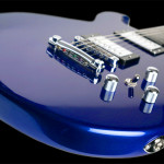 Custom flat top guitar, Cobalt Blue finish, Alder body. Clone model.