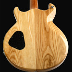 Swamp Ash body electric guitar, back detail, Natural finish. Clone model