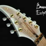 7-string custom guitar headstock detail, handcrafted in Vancouver at Basone