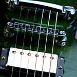 Weed leaf guitar pickups close up, handcrafted in Vancouver Canada in 2005