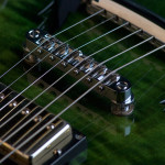 Pot leaf guitar pickups close up, handcrafted in Vancouver Canada in 2005