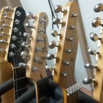 Fender guitars being repaired at our shop