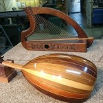 Repair and restring on old Wooden Harp and crack repair on Oud in Vancouver Canadaby Basone