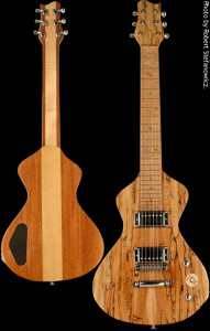 Custom Lap Steel Guitar 2, Alder Mahogany hybrid body with Spalted Maple top