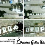 Custom fingerboard inlay by Basone