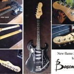 New flame Maple neck on this guitar by Basone