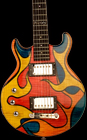 Three quarter size electric guitar, Phoenix model link 12. Photo by Robert Stefanowicz.