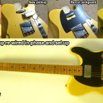 5 Seymour Duncan Antiquity pickup re-wire in-phase and set up