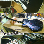 black refinish on Les Paul by Basone