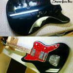 Fender Jazz Bass Black gloss body refinish by Basone