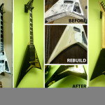 Flying V hacked body rebuild, repaint and restore by Basone