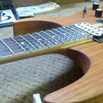 Scalloped frets, scalloping job by Basone