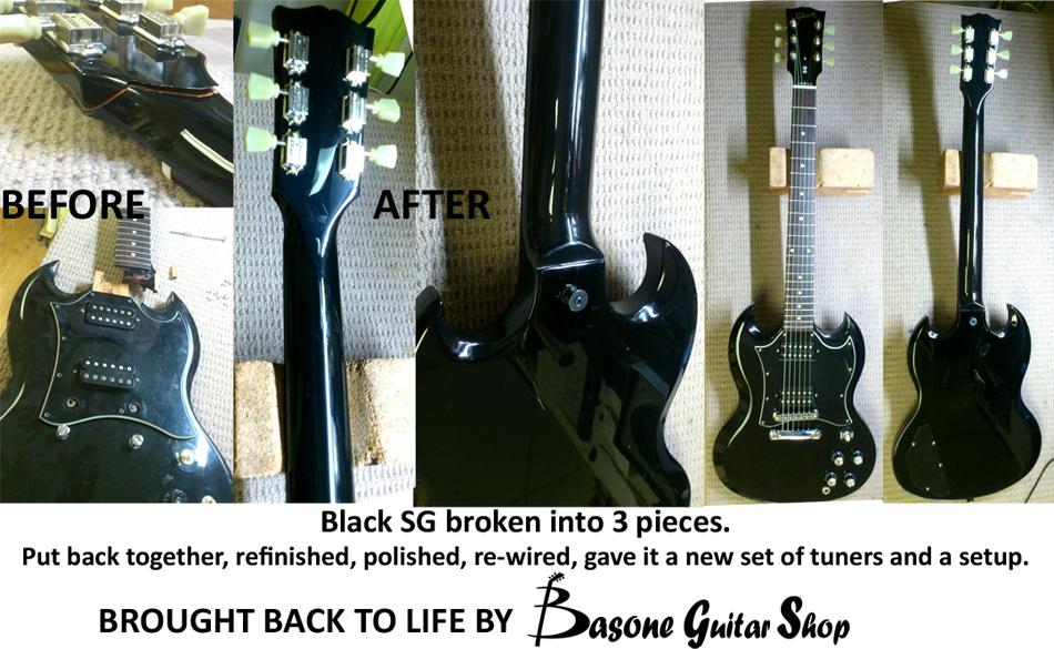 Repairs Photo Gallery Basone Guitars and Repair shop