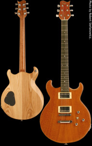 Flat top custom guitar, Brazilian Angida top with Swamp Ash body, Natural finish. Clone model