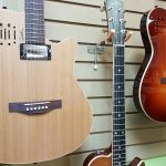 Godin A6 Ultra Natural or Cherry Burst electric acoustic guitar on sale in Vancouver Canada at Basone