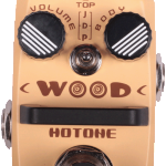 Hotone Wood, Acoustic Guitar Simulator mini effects pedal on sale in Vancouver Canada at Basone