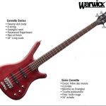Warwick Corvette Standard Bass Guitar made in Germany, on sale in Vancouver Canada at Basone
