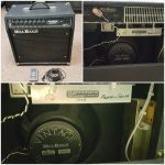 Used Mesa Boogie Studio 22 Plus tube combo amp signed by owner and founder of Mesa Engineering Randall Smith in 2003 on sale in Vancouver Canada at Basone
