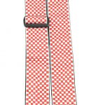 Perris TWS_6728 red and white checkers pattern guitar strap on sale in Vancouver Canada at Basone