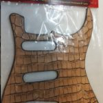Leather Pickguard for Stratocaster strat electric Guitar, Coco Beige, On sale in Vancouver Canada at Basone