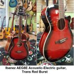 Ibanez Acoustic-Electric Steel-String Guitar, Trans Red Sunburst finish, model AEG8E-TR, for sale in Vancouver Canada at Basone