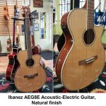 Ibanez Acoustic-Electric Steel-String Guitar, Natural finish, model AEG8E-NT, for sale in Vancouver Canada at Basone