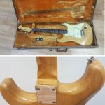 1961 Vintage Fender Stratocaster with original case for sale in Vancouver Canada at Basone Guitar Shop