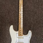 2015-2016 Fender Jimi Hendrix Stratocaster, Maple Fingerboard, Olympic White, lightly used, for sale in Vancouver Canada at Basone