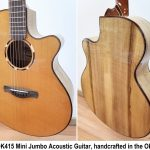 Kronbauer Myrtle TDK415 All Solid Handcrafted Mini Jumbo Acoustic Guitar, solid spruce top and solid Myrtlewood back and sides, for sale in Vancouver Canada at Basone