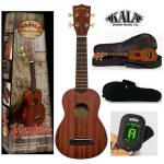 Makala by Kala soprano ukulele pack, kit includes bag, tuner and manual. For sale in Vancouver Canada at Basone.