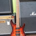 Ibanez SA960QMBTB Electric Guitar in Brown Topaz Burst, includes case, Lightly Used, for sale in Vancouver Canada at Basone