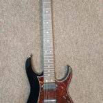 Ibanez RG7621 7-string guitar, black, made in Japan. with case, for sale in Vancouver Canada at Basone