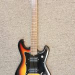 Vintage Silvertone solid body electric guitar, used, for sale in Vancouver Canada at Basone