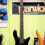 Warwick Rockbass Streamer LX 4-String Bass Guitar, B-STOCK, solid black high-polish finish, for sale in Vancouver Canada at Basone