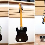 Levinson Blade Delta Standard Telecaster shaped electric guitar, black finish, made in Japan. Gently used. For sale in Vancouver Canada at Basone