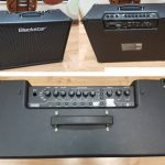 "Blackstar IDCore100 amp, no input jack. Speakers are in excellent condition, 2x10"" 50w. For parts."