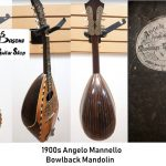 Bowlback Mandolin by Angelo Mannello (American, born in Italy, 1858–1922), made in USA. COLLECTOR'S ITEM! For sale in Vancouver Canada at Basone