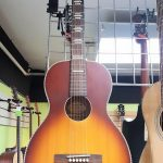 Recording King Dirty 30s Series 7 Size 0 Parlor size Acoustic Guitar, Tobacco Sunburst, model RPS-7-TS, lightly used, for sale in Vancouver Canada at Basone