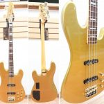 MarkBass P-Bass-style MB JP GOLD 4 GD PF 4-string Bass Guitar, Gold finish, made in Italy, for sale in Vancouver Canada at Basone