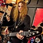 Greg Valou plays his custom Basone bass