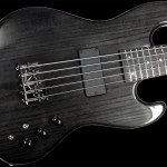 Handcrafted 5-string Bass Guitar, 24-fret, Trans Coal finish