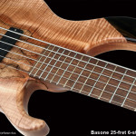 6-string bass chambered Mahogany body, Spalted Maple top with Walnut and Ebony accents
