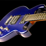 Flat top custom guitar, Alder body, Cobalt Blue finish. Clone model